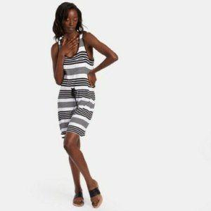 OLIVE & OAK   Black & White Drawstring Tank Dress